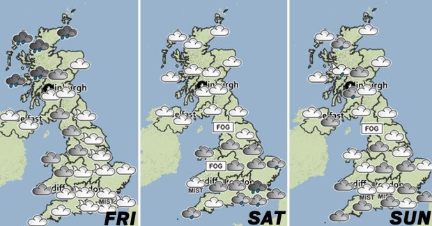 UK weather forecast Cold wet