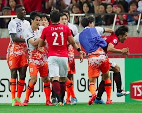 Asian Football Confederation suspends, fines three Jeju United players urawa reds abe