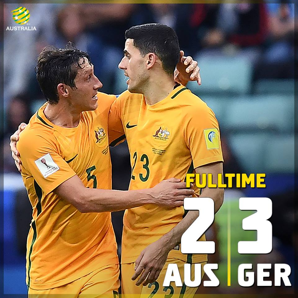 Better second half from the Socceroos, but its not enough as Germany claim a 3-2 win