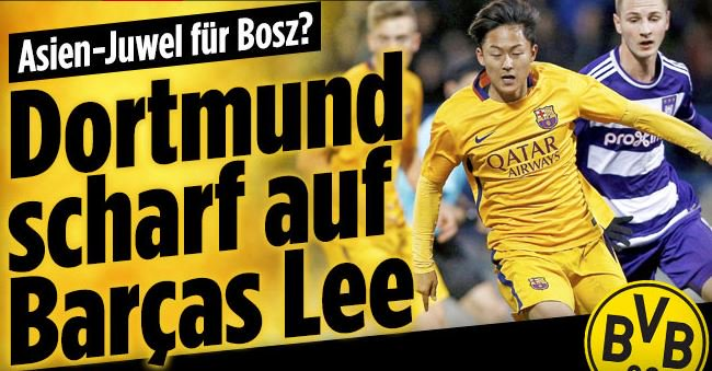 Borussia Dortmund are interested in Barcelona younster Lee Seung-Woo
