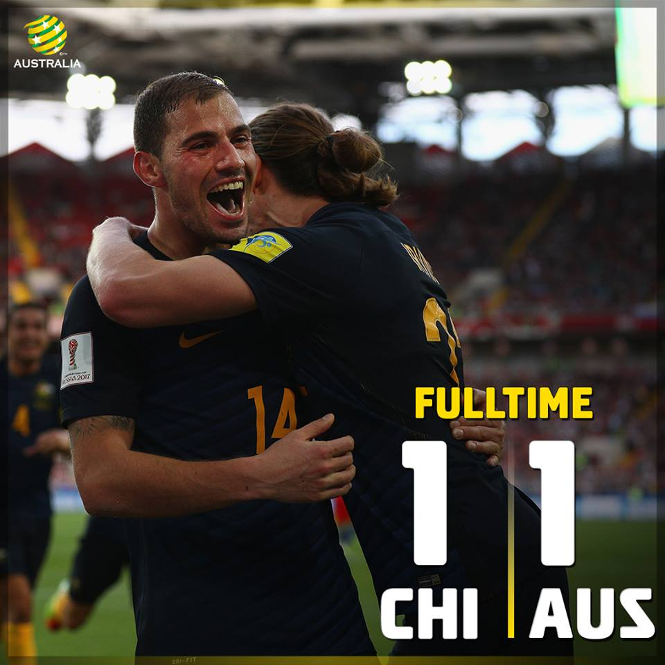 1-1 draw with Chile Huge effort from the Socceroos!