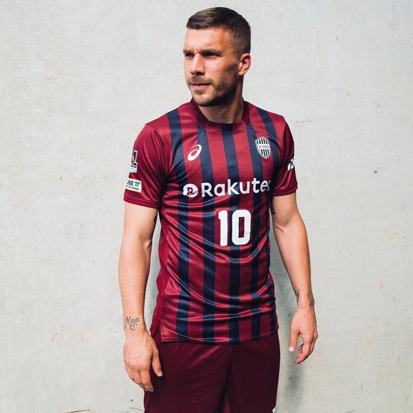 Former German international Lucas Podolski signs for Vissel Kobe