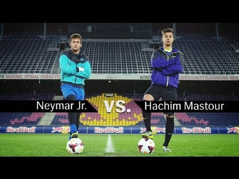 Hachim Mastour vs Neymar Jr - Freestyle football juggling battle