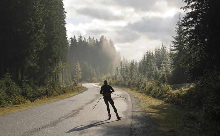 スキー トレーニング 道路