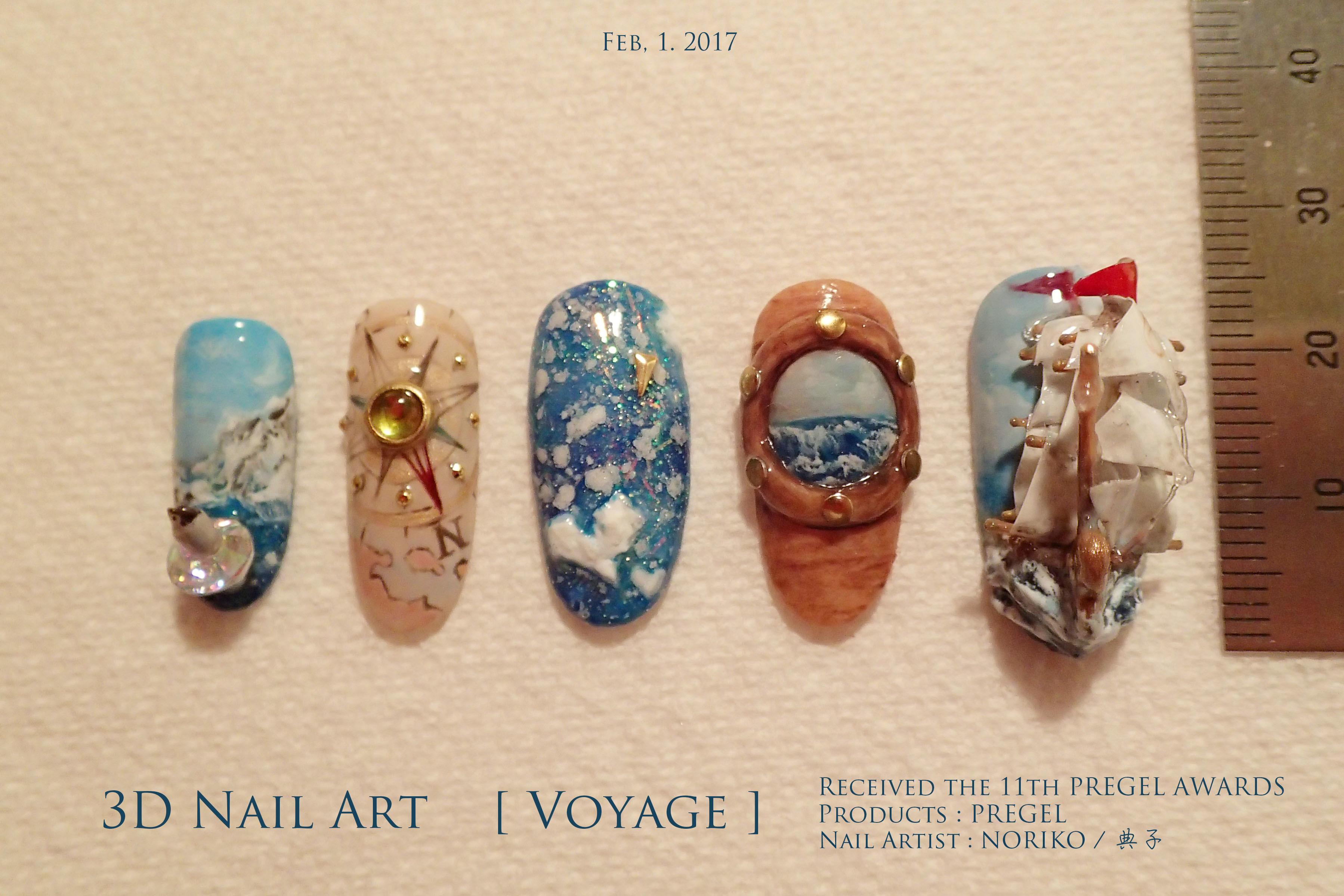 Pregel Award_29 第11回プリジェルアワード受賞アート Nail Artist : NORIKO/ 典子