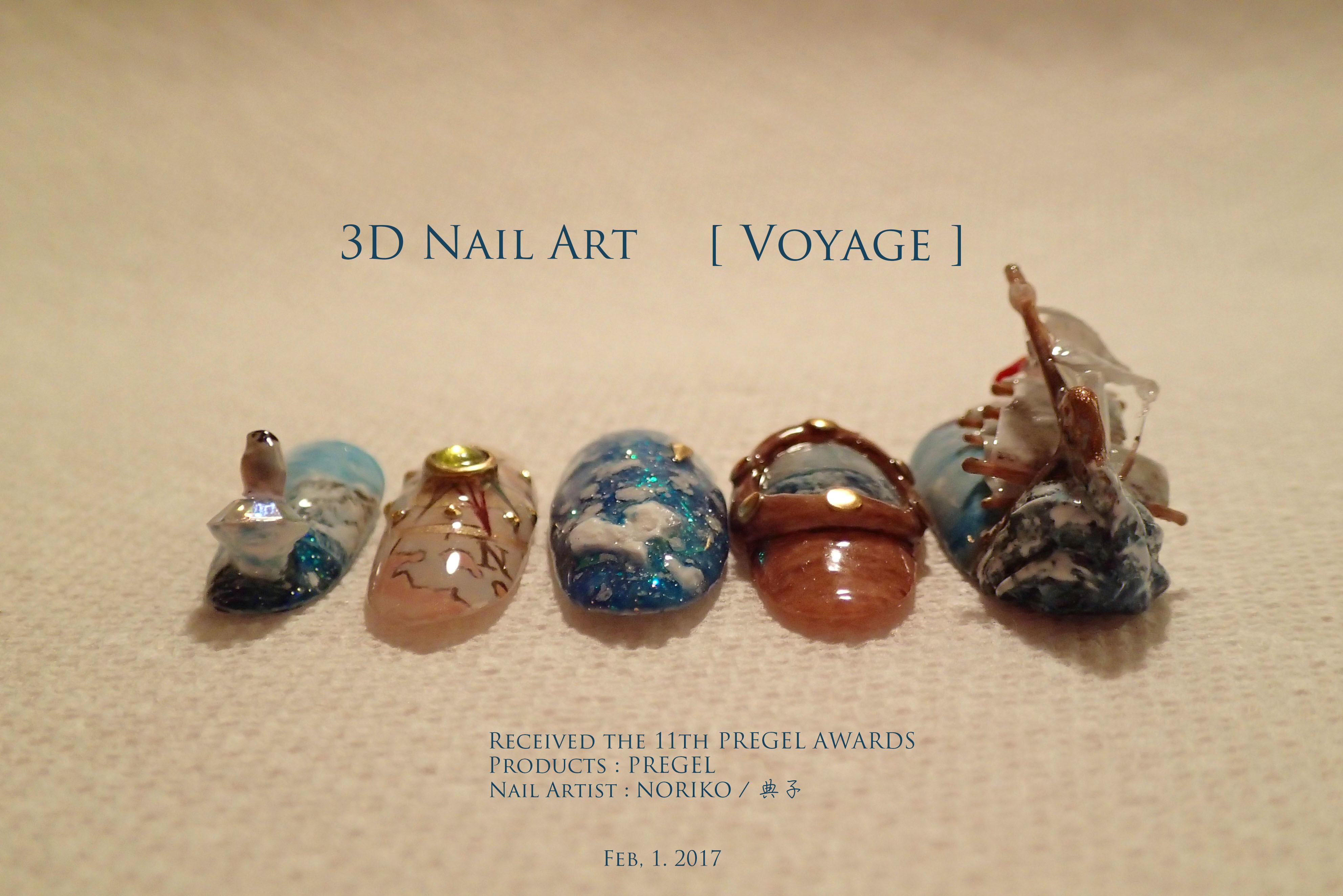 Pregel Award_28 第11回プリジェルアワード受賞アート Nail Artist : NORIKO/ 典子