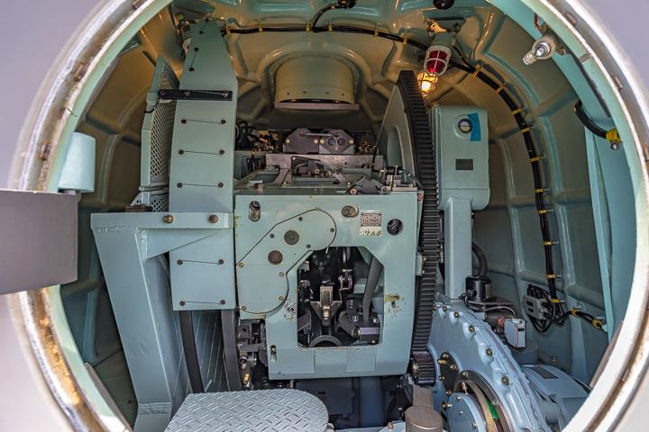TV 3519 やまゆき 62口径76mm単装速射砲 砲塔内部