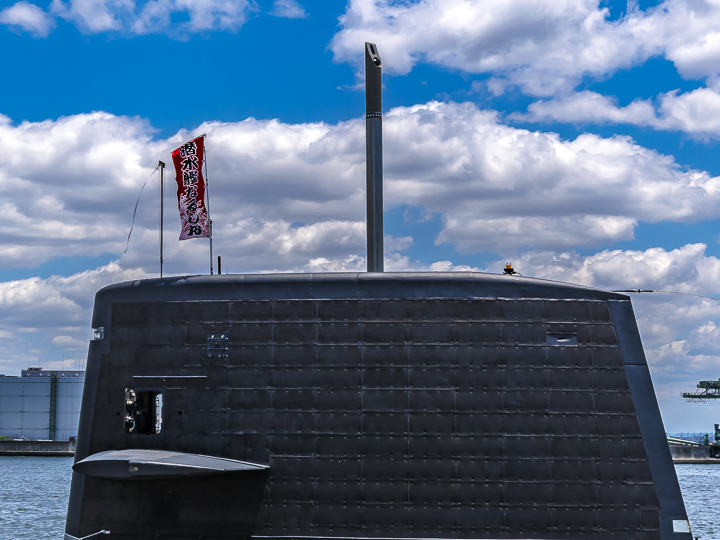 SS 595 なるしお 艦橋 潜望鏡