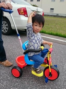 誕生日プレゼントの三輪車