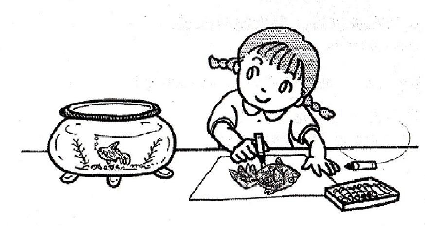 イラスト金魚の絵を描く