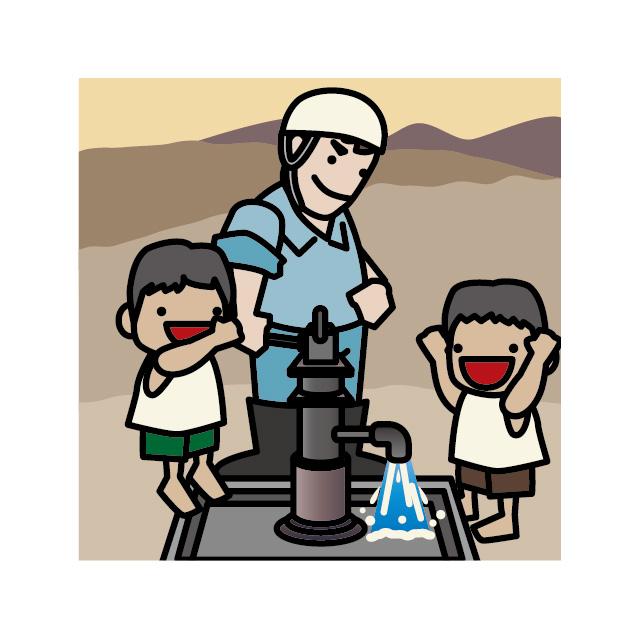 井戸掘りボランティア