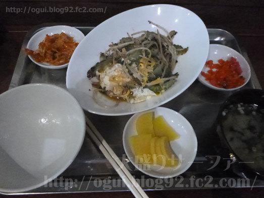 ご飯とゴーヤチャンプルーを実食019