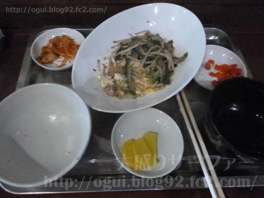 玄米とゴーヤチャンプルーを実食021