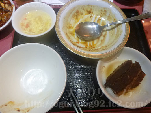 四川麻婆豆腐定食を実食019