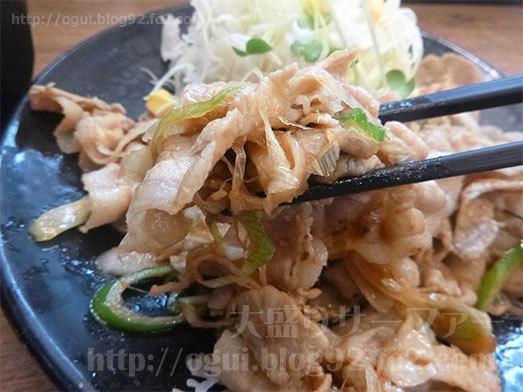 生姜ライス定食の飯増しを実食089