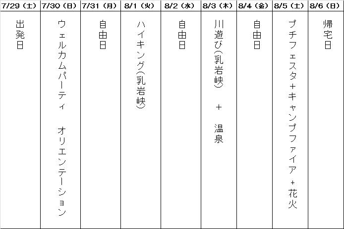 おいでん!福島っ子!20017夏のスケジュール