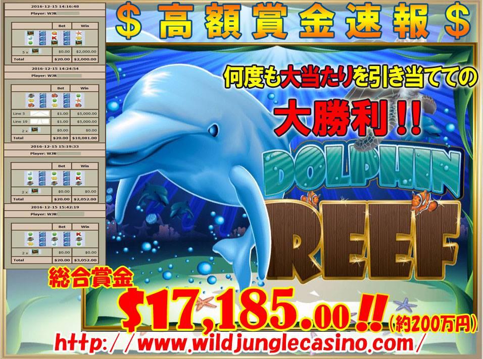 DOLPHIN REEF 総合賞金17,185.00ドル