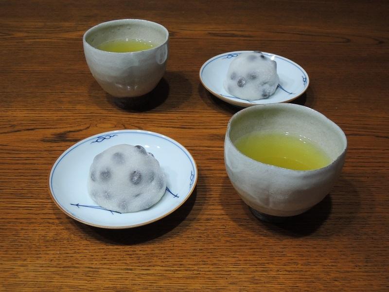 豆餅と緑茶