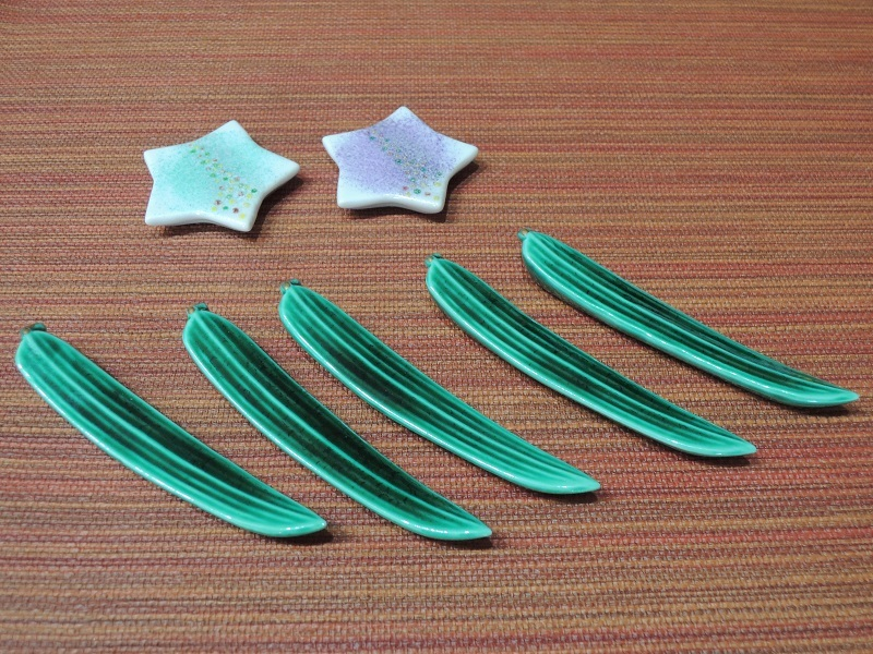 星と笹の葉のお箸置き
