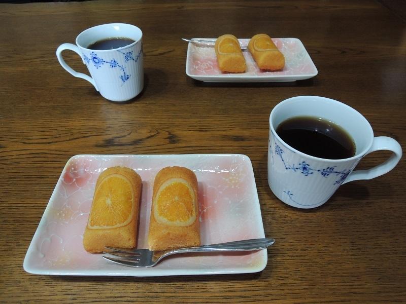 オレンジケーキと珈琲