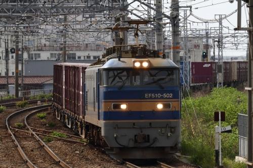 EF510-502牽引1250レ 枇杷島駅