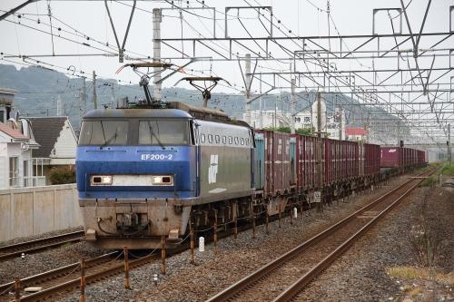 EF200-2代走・5075レ 鴨宮駅