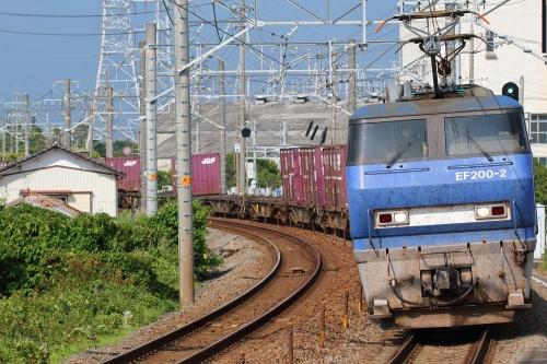 EF200-2代走・5075レ 新蒲原駅