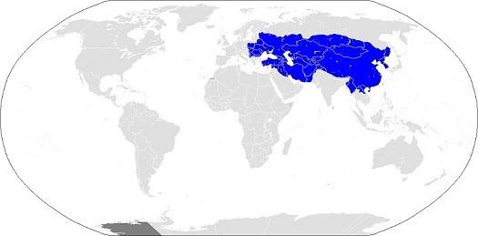 モンゴル帝国の最大領域
