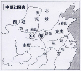 中華と四夷(東夷・西戎・南蛮・北狄)