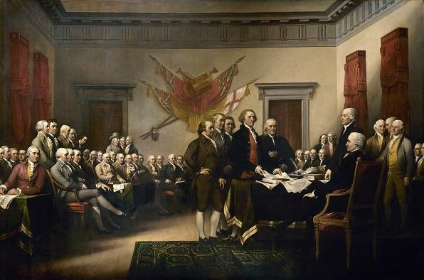 「独立宣言への署名」ジョン・トランブル画