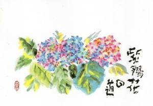 紫陽花 片岡鶴太郎