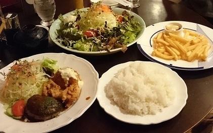 サービス定食&サラダ&ポテト