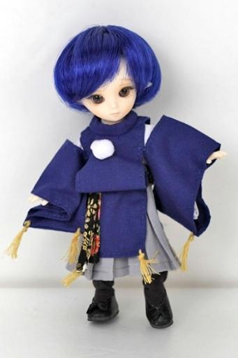 着物衣装セット 青(3点セット)