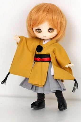 着物衣装セット 黄(3点セット)