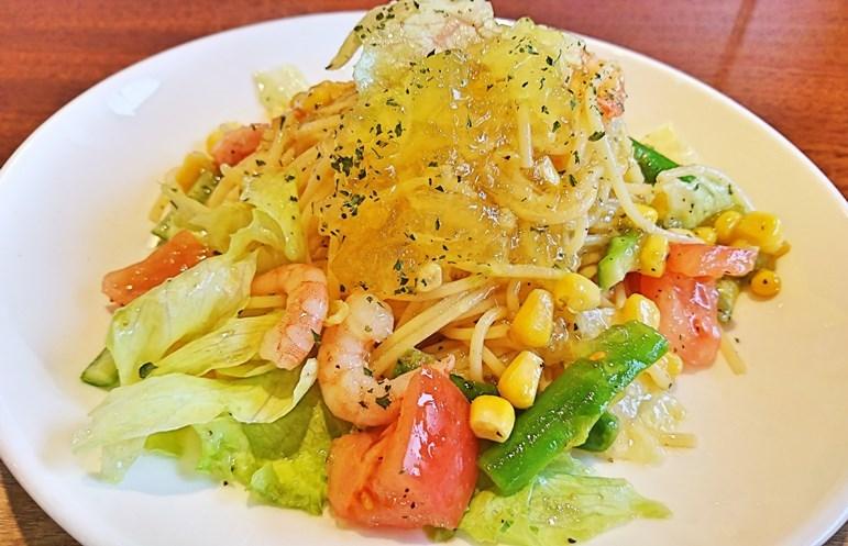 えびと野菜の冷製ジュレパスタブログ