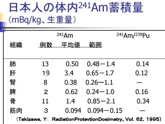 人体臓器Am241