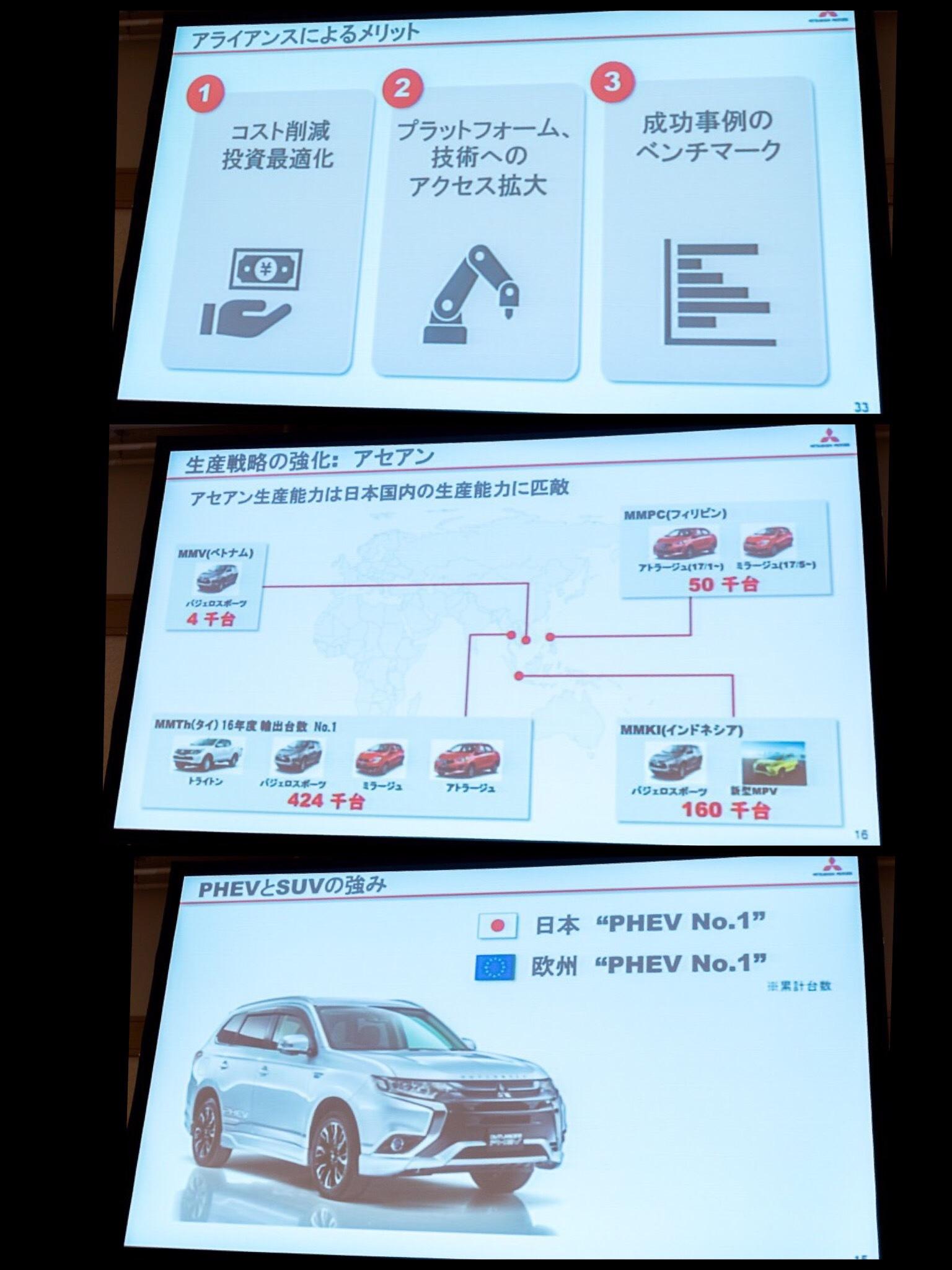 三菱自動車株主総会 2017 ゴーン シナジー