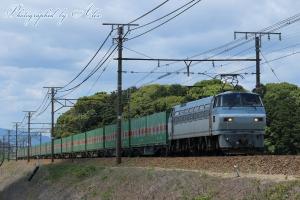 56レ「福山レールエクスプレス」(=EF66-124牽引)