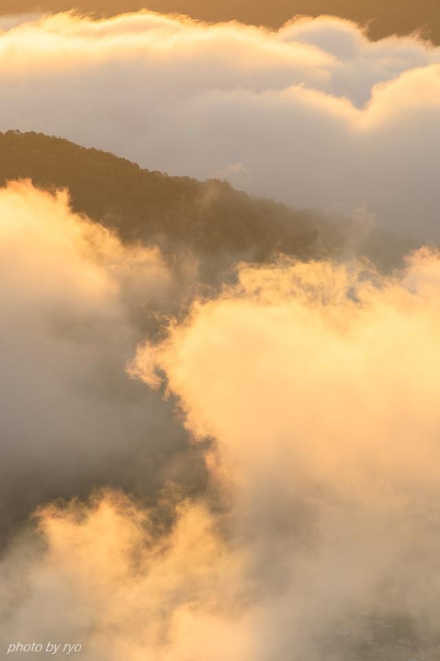 焼けた雲と日暈と_4