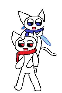18-2_ギコとモララー(おんぶ・剣)