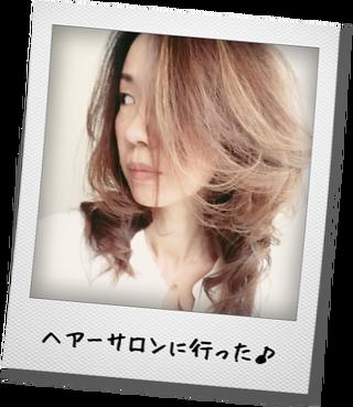 ヘアーサロンで髪サラサラ