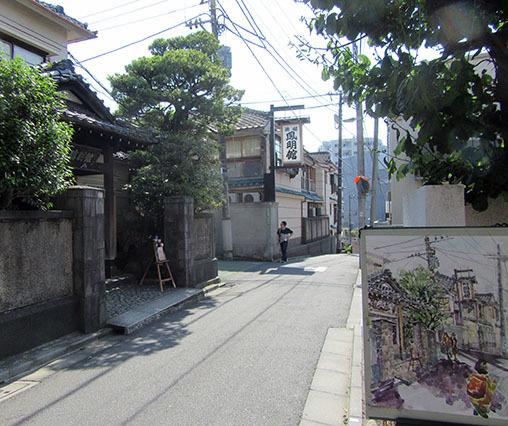 本郷菊坂でスケッチ