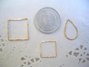 メタルリング:ダイヤカット3種