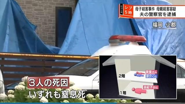 ⑧【福岡妻子3人殺害】現職警察官の中田充(みつる)を逮捕!