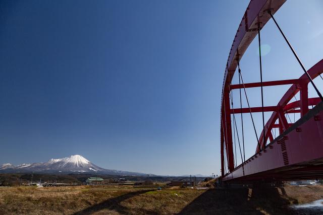 大山 岸本 米子道 赤い橋