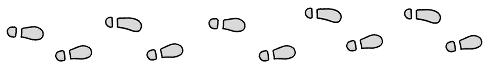 足跡ライン2