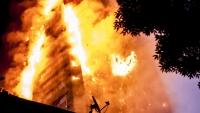 ロンドン火災(下から)