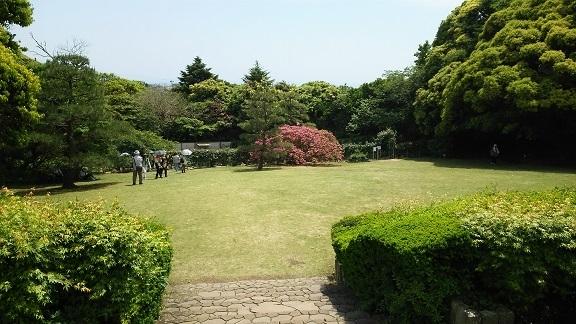 文学館の庭