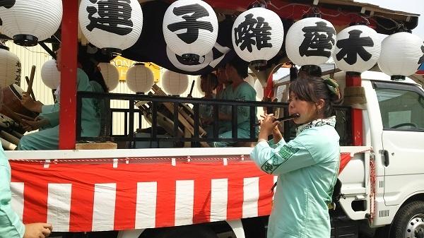 五所神社の祭りの笛