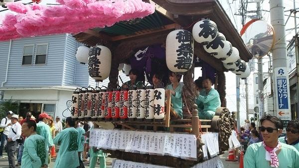 五所神社の祭り山車